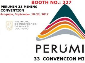 Perumin 33 Convencion Minera in Peru, Arequipa 18-22th, Sep. 2017