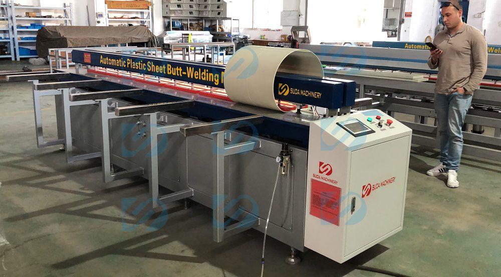 HDPE butt fusion welding machine Factory Show-DH3000 Plastic Sheet Butt Welding and Rolling Machine