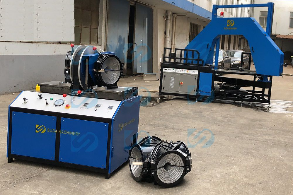 HDPE butt fusion welding machine Factory Show-SDF315 Worksho Fitting Machine and SDC630 Multi angle Saw