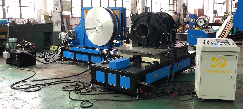HDPE butt fusion welding machine Factory Show-SDF630 & SDF315 Worksho Fitting Machine
